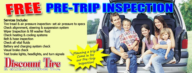FREE Pre-Trip Inspection