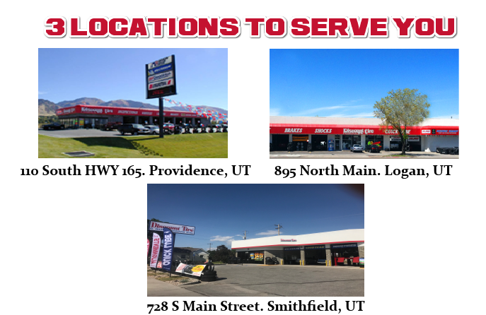 Welcome to Discount Tire in Logan, Providence and Smithfield, UT